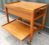 SOLD - Teak Tea Trolley with Drawer